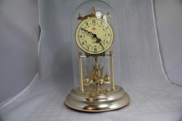 Vintage Clock Elgin Anniversary Bell Mantel Clock Quartz