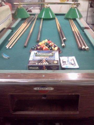 Vintage Coin Operated American Shuffleboard Pool Table Billiards For - Pool table movers knoxville tn