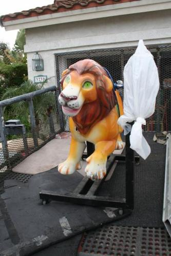 Vintage Coin-Operated Lion Kiddie Ride