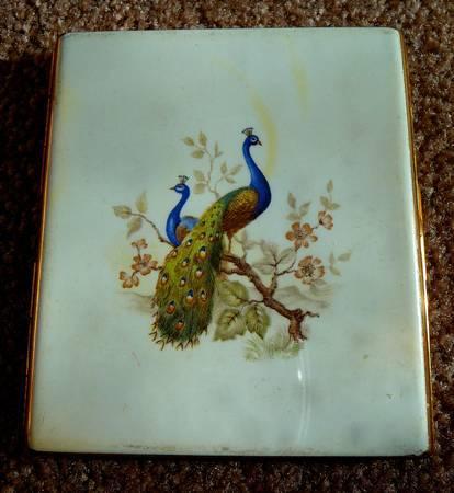 Vintage Colibri Peacock Cigarette Case - $15