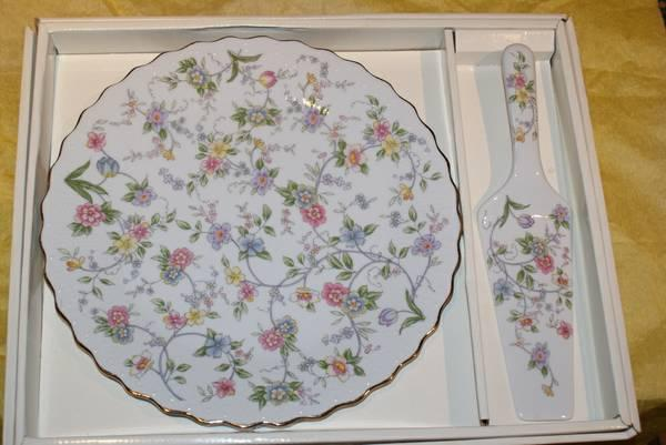 Vintage Corona Cake Plate Server Fine China Porcelain