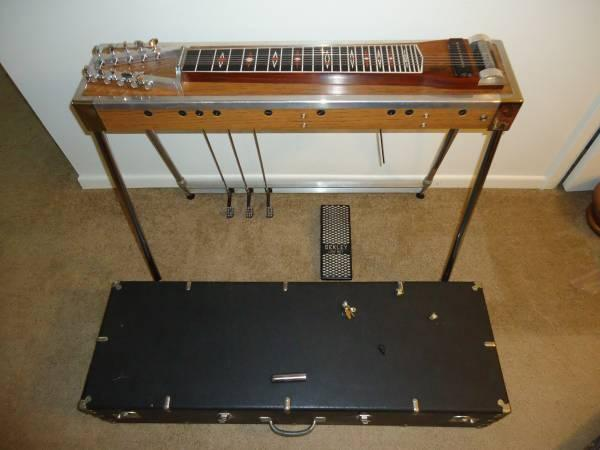 vintage deckley 10 string 3 pedal steel guitar w volume pedal case for sale in essexville. Black Bedroom Furniture Sets. Home Design Ideas