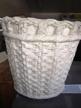 Vintage Decorative Concrete Flower Pots For Sale In