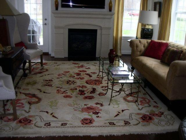 Vintage Decorator Oushak Room Sized Rug 9 x 12