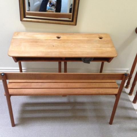 Vintage Double French School Desk