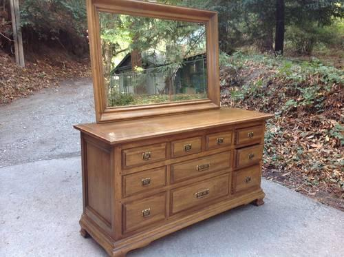 Vintage Drexel 10 Drawer Dresser With Mirror For Sale In
