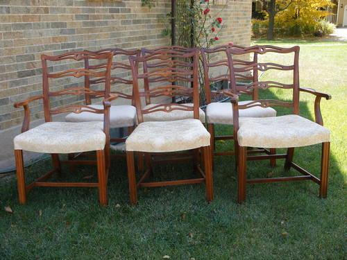 Vintage Drexel Heritage Ladderback Dining Chairs Set Of 6 For Sale