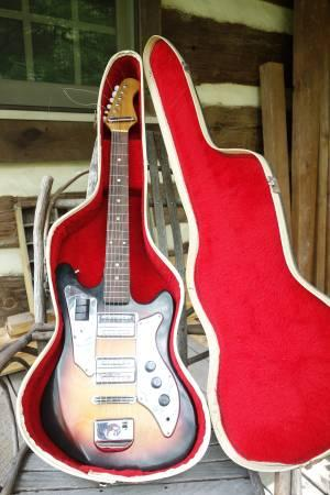 Vintage Electric Guitar Teisco Crown Professional For Sale In