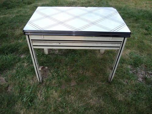 vintage enamel top kitchen table for sale in manhattan