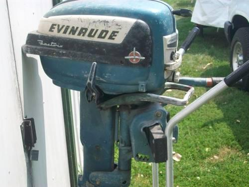 Vintage evinrude outboard motor fastwin 15 for sale in for Boat motors for sale mn