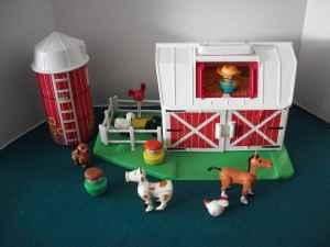 Vintage Fisher Price Little People Farm Set Romney Toy