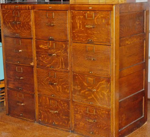 vintage florida state library bureau makers oak filing cabinets for sale in clermont. Black Bedroom Furniture Sets. Home Design Ideas