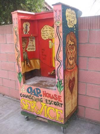 VINTAGE FOLK POP ART VENICE BEACH THE OAR HOUSE - $1400