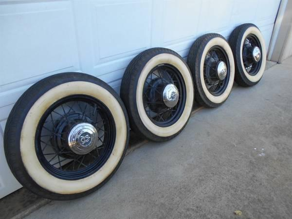 Will These Tires Fit My Car >> Vintage Ford Wheels and Tires 1928 1930 1932 1934 - for Sale in Glendale, Oregon Classified ...