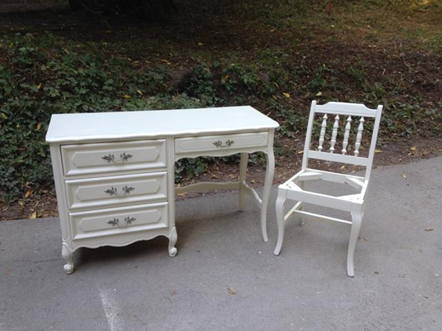Vintage French Provincial Desk with matching Chair for