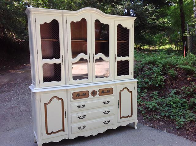Vintage French Provincial Fancher Grand China Cabinet