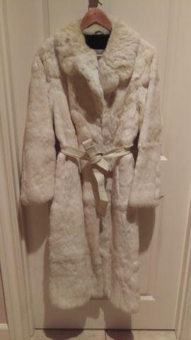 Vintage, Genuine Asian Mongolian White Rabbit Fur