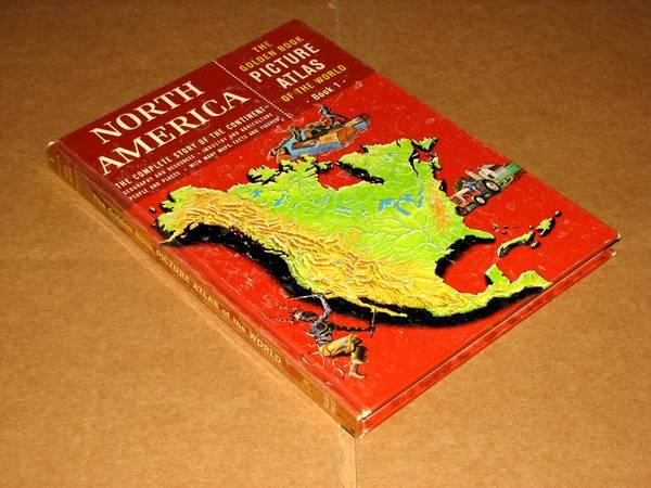 Vintage Golden Book Picture Atlas of the World,