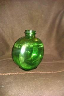 Vintage Green Sunsweet Dura Glass Bottle  Vase