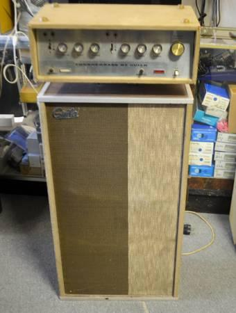 vintage guild thunderbass tube amp late 1960s with matching cabinet for sale in philadelphia. Black Bedroom Furniture Sets. Home Design Ideas