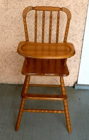 Vintage Hedstrom Wooden High Chair For Sale In Columbus