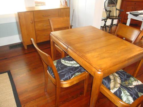 Vintage Heywood Wakefield Buffet Dining Table 4