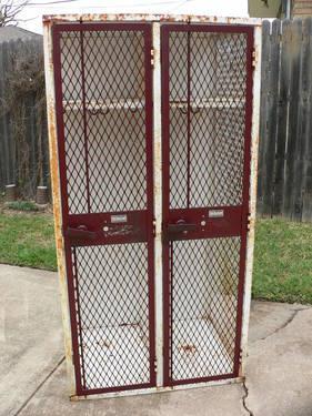 Vintage Industrial Cage Lockers
