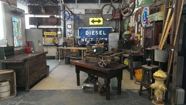 Vintage Industrial Urban Loft Decor For Sale In Orange