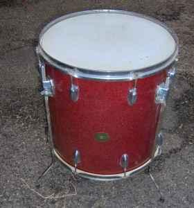 VINTAGE JAPAN - red sparkle floor tom by Gambles Corp  - $65 (cAnToN Ms  3-9-0-4-6)