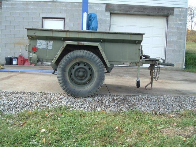 vintage jeep pulled military trailer m416 very good cond. Black Bedroom Furniture Sets. Home Design Ideas