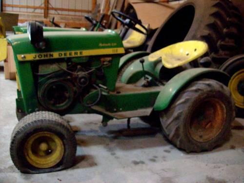 Garden Tractor Hydraulic Implement Lift : Vintage john deere hydraulic lift round fender tractor