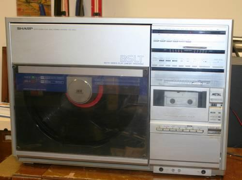 vintage jvc vz 3500 vertical vinyl record player cassette tape deck for sale in evergreen. Black Bedroom Furniture Sets. Home Design Ideas