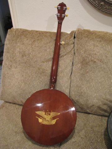 Vintage Kay- Deering 5 String Banjo with Eagle Back
