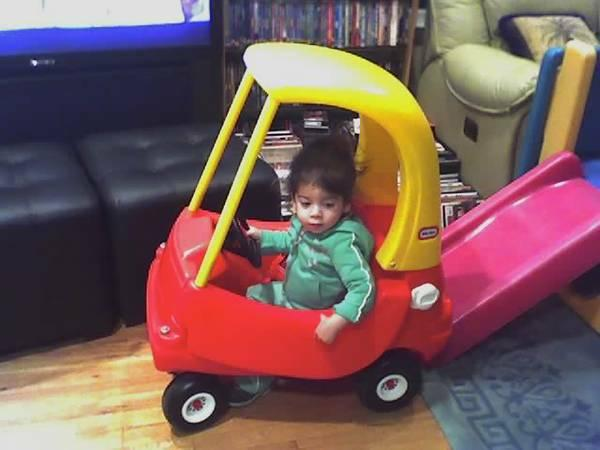Vintage Little Tikes Cozy Red Coupe-used indoors only, not faded - $59