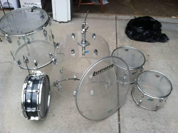 vintage ludwig vistalite drum set for sale in boulder colorado classified. Black Bedroom Furniture Sets. Home Design Ideas