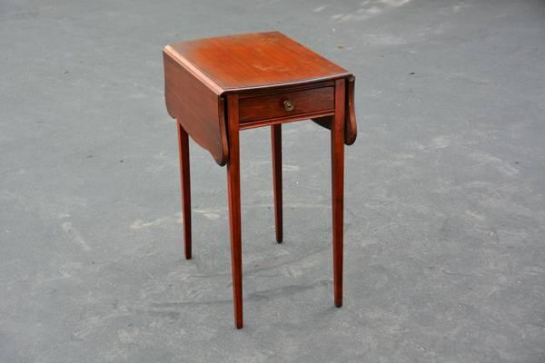 Beau VINTAGE MAHOGANY DROP LEAF END LAMP SIDE TABLE   $43