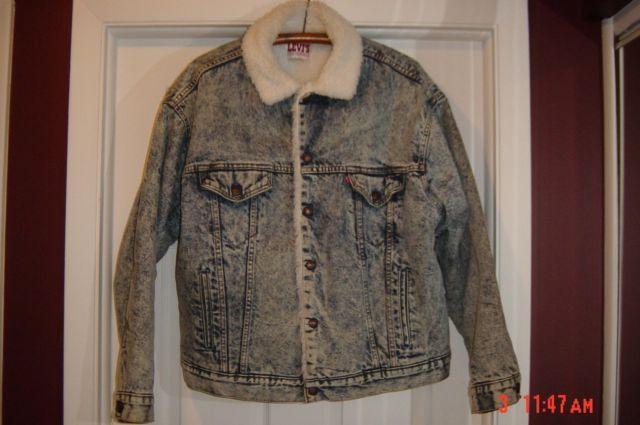 Vintage Men S Large Levi S Red Tag Denim Jacket Fleece Lined For