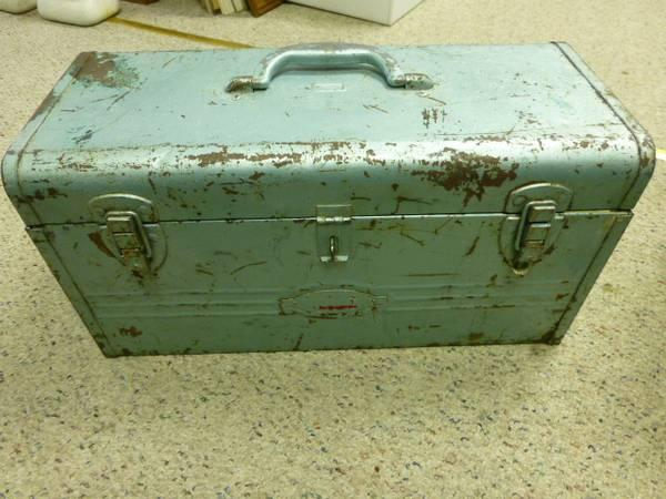 Vintage Metal Craftsman Toolbox - Blue - $50