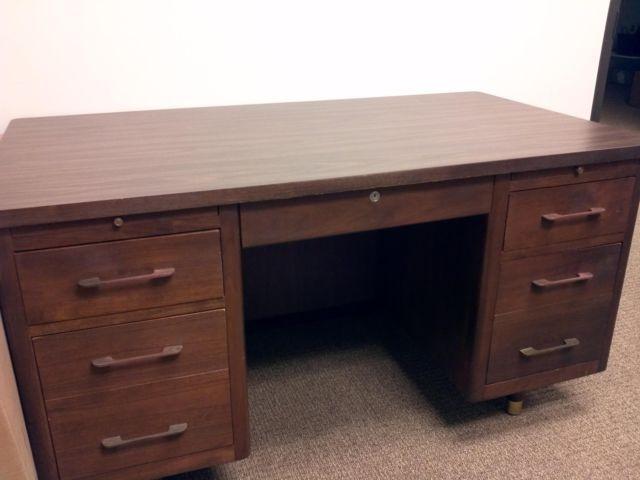 Vintage Mid Century Hoosier Desk For Sale In Houston