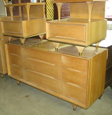 Vintage MidCentury Modern Kent Coffey Elegante Piece Bedroom - Kent coffey bedroom furniture