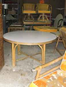 Vintage Midcentury Ficks Reed Patio Furniture 14 Pieces