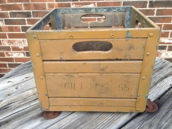 Vintage Milk Crate Gilt Edge 55 For Sale In Atoka