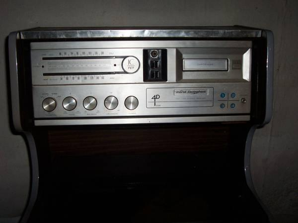 Vintage Morse Electrophonic Stereo Cabinet w 8-Track  Record Player - $60