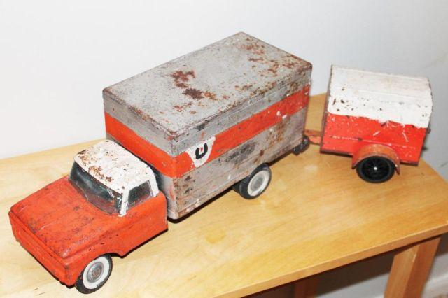 Vintage Nylint UHaul Truck  Trailer - Very Unique Piece, Great Patina