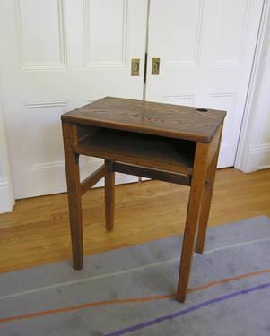 vintage oak school desk for sale in balmville new york classified. Black Bedroom Furniture Sets. Home Design Ideas