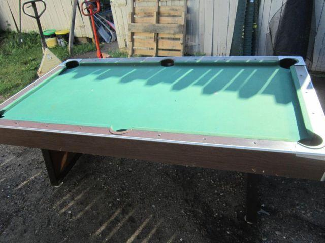 VINTAGE OLD Hawthorne Montgomery Ward Pool Table With Tennis Top