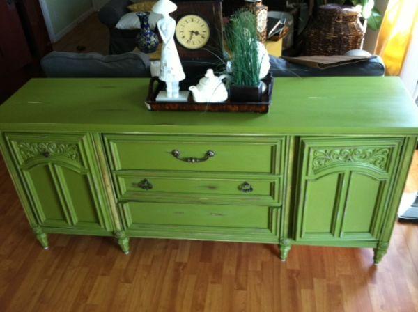 Vintage Olive Green Buffet Se Bakersfield For Sale In