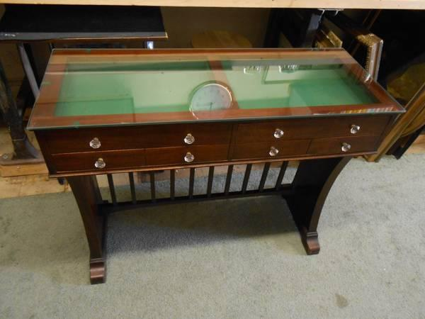 Vintage Opticians Glass Top Display Table   $499