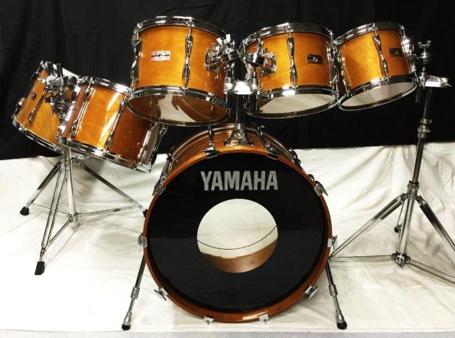 VINTAGE ORIGINAL YAMAHA RECORDING CUSTOM 6 PIECE WITH EXTRAS-MINT