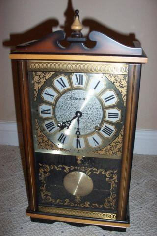 Vintage Penchime 31 Day Mantel Shelf Or Wall Clock Japan
